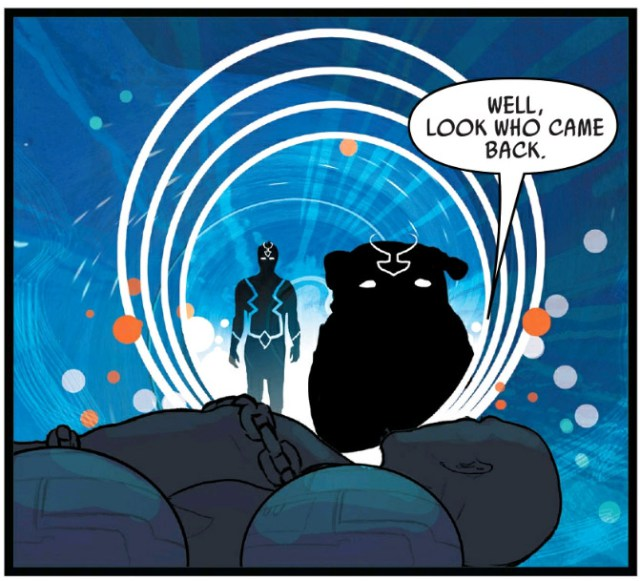 Black Bolt and Lockjaw Arriving Through Portal
